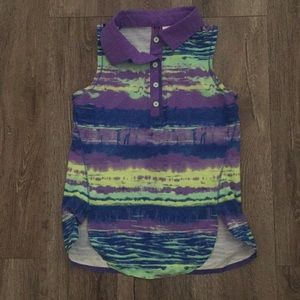 ivivva lululemon girls size 8 • short sleeve top